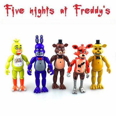 5 PCS Five Nights At Freddy's FNAF 5.5'' Action Figures With Light Toys Gifts US