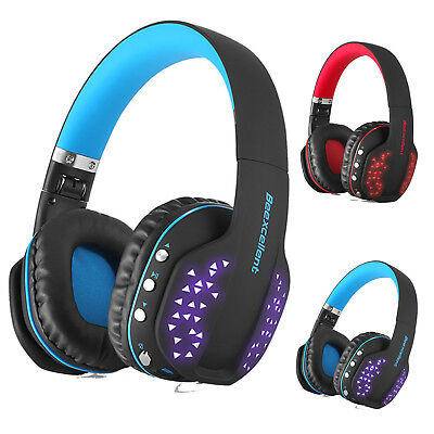 Q2 Wireless Pro Gaming Headset LED Mic Stereo Headphones for PC PS3 PS4 Xbox One