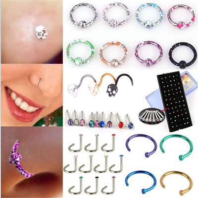Simple Seamless Hinged Segment Sleeper Ring Hoop Ear Lip Nose Septum Piercing