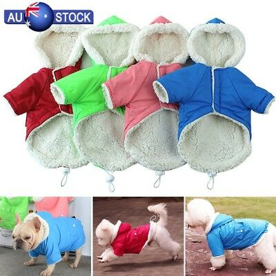 Medium Large Dog Clothes Coat Jacket Winter Waterproof Pet Clothing Vest AU