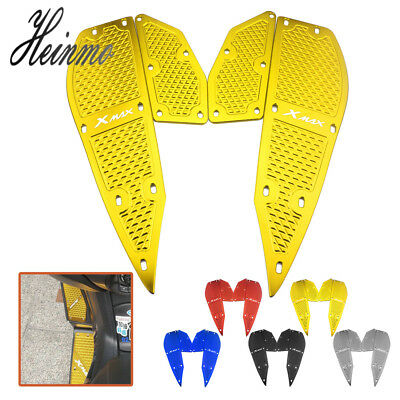 Foot Peg Plate Footrest Step Pad Mat Cover For Yamaha XMAX250 XMAX 300 2017-2018