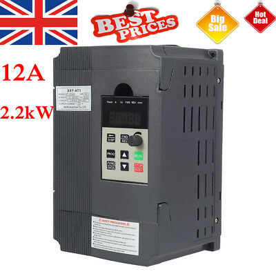 220V 12A PWM Variable Frequency Drive VFD Speed Controller for 2.2kW AC Motor