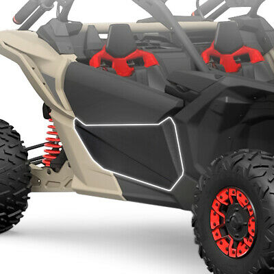 Lower Door Panels Insert Kit For Can Am Maverick X3 Black (Driver & Passenger)