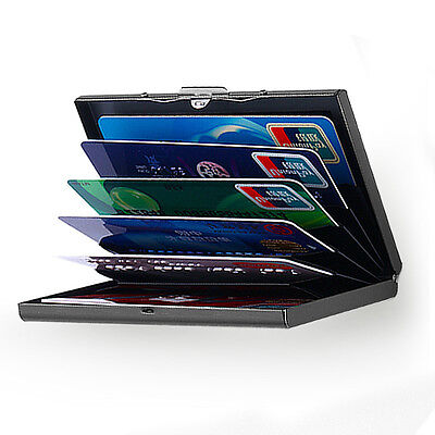 Aluminum Metal Blocking Pocket case Box Business ID Credit Card Wallet Holder