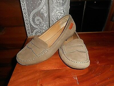 16df0919c99 COACH LEIGH PENNY LOAFERS WOMEN SIZE 6.5 B TAN SUEDE Shoes 6 1 2