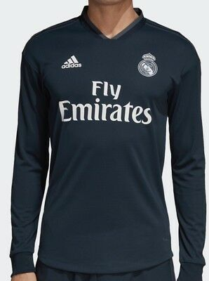 3b424cfc885 Nwt Adidas Real Madrid Away Authentic 18/19 Jersey Dq0868 Tech/Onix Msrp  $140