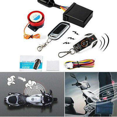 PKE Dual Way Digital Motorcycle Alarm System Anti-theft Remote Engine Start Stop