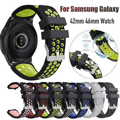20/22MM Silicone Watch Strap Replacement Watch Band for Samsung Galaxy 42mm 46mm