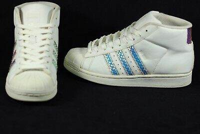 the best attitude c4772 4db56 Adidas Pro Model Superstar shell toe high hi top fashion skate shoes Size 5