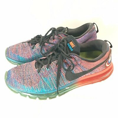 3b4a166333c9 Men Nike Flyknit Air Max 360 Rainbow Woven Captain America Patch 620469-401-  12M
