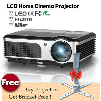 LED Home Cinema Projector Xbox Movie Party HD 1080P Entertainment HDMI USB+Stand