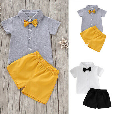 Baby Boys Summer Short Sleeve T Shirt Short Pants Suit Newborn Clothes Outfits