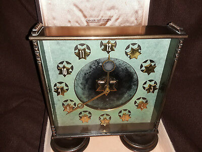"Very Rare Jaeger Lecoultre ""Star of David"" Desk Clock circa 1920-1930"