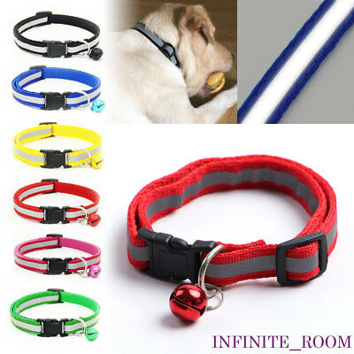 Pet Puppy Cat Dog Glossy Reflective Collar Band Necklace for Night Safety