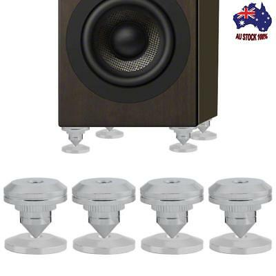 Chrome-plated Speaker Isolation Spikes AMP DAC CD Feet Cones Stand Base 4 sets