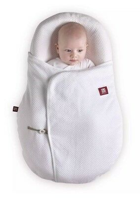 Red Castle Cocoonababy Blanket A White Quilted 2 Tog Cocoonacover 100% Cotton