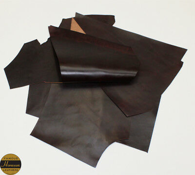 Horween Horse Chromexcel 1.0-1.2mm Thick Burgundy 5 Piece 3.0-3.5 sq ft Remnant