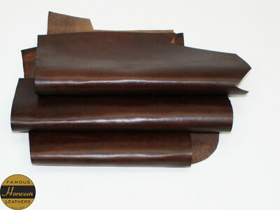 Horween Horse Chromexcel 1.0-1.2mm Thick Brown 3 Piece 4.0-4.5 sq ft Remnant
