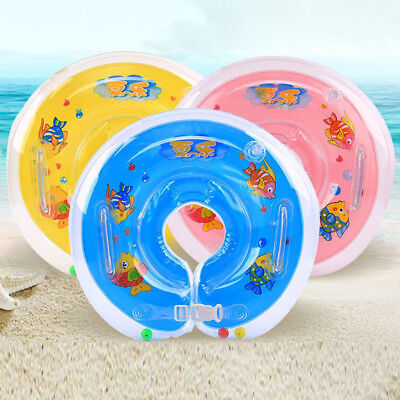 Swimming Baby Neck Float Infant Bath Ring Adjustable Safety Aids 1-18 Months UK