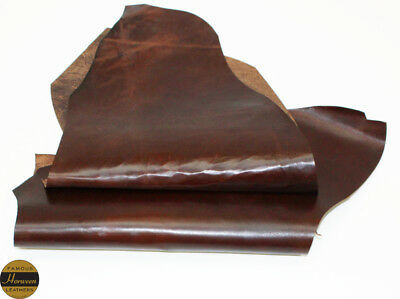 Horween Horse Chromexcel 1.0-1.2mm Thick Brown 2 Piece 4.0-4.5 sq ft Remnant