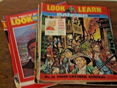 12  Look and Learn Magazines Incorporating Ranger 1970s