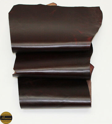 Horween Horse Chromexcel 1.0-1.2mm Thick Burgundy 3 Piece 2.5-3.0 sq ft Remnant