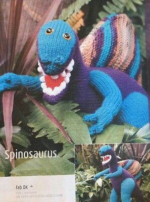 """DK  Knitting Pattern Soft Toy Animal Dinosaur Pterodactyl Measures 7/"""" In Height"""