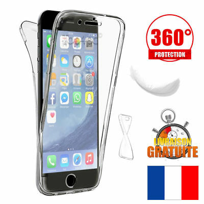 Coque Housse Etui Total 360° Pour Iphone  7 / 8  Protection Tpu Gel Silicone