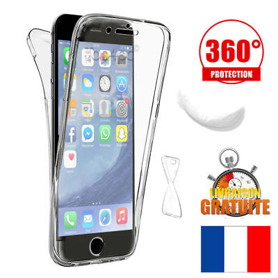 Coque Housse Etui Total 360° Pour Iphone  7 . 8  Protection Tpu Gel Silicone