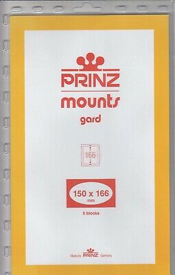 Prinz/Scott Stamp Mounts 150x166 mm Clear Holders Prostate Cancer Pack Of 5