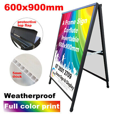 A Frame Sign (Sandwich Board) With Double Side Printing Corflute Insertable