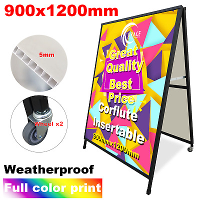A Frame Sign (Sandwich Board) 900X1200mm With Double Side Printing