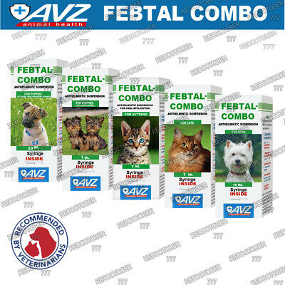 Febtal Combo Worming suspension for dogs and cats dewormer Anthelmintic treat