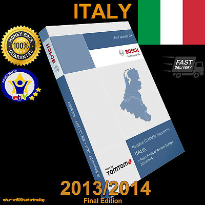 Teleatlas Dx Italy Italia 2013/14 Sat Nav Disc Map Navigation Cd Mfd1 Mercedes