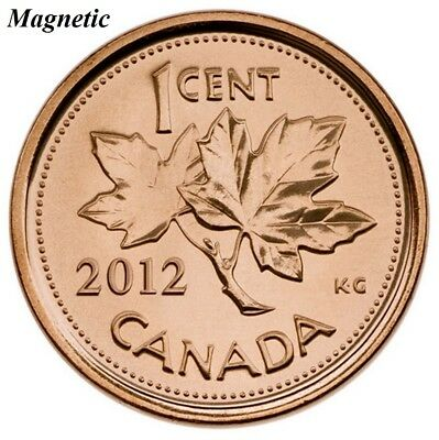 CANADA 2012 New 1 cent Multi-Ply Plated Steel MAGNETIC (BU From roll)
