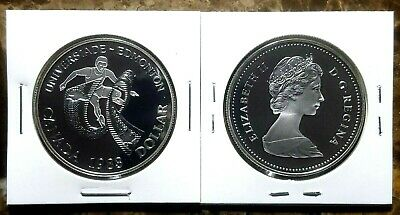 Canada 1983 University Games Proof Gem UNC Silver Dollar!!