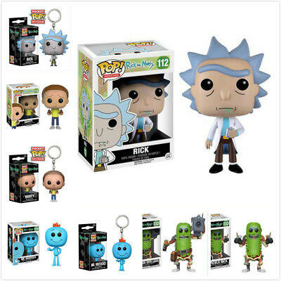 TV Rick and Morty Toy - Rick/Morty/Mr Meeseeks Funko POP PVC Figure/ Keychain