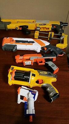 Nerf guns lot of 5 includes Recon 6 zombie strike