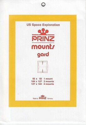 Prinz/Scott Stamp Mounts Space Exploration Clear Pack Of 3 Sizes New