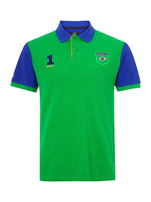 HACKETT London Classic Fit (2018 Fifa World Cup) 100% Cotton Polo Shirt BRAZIL