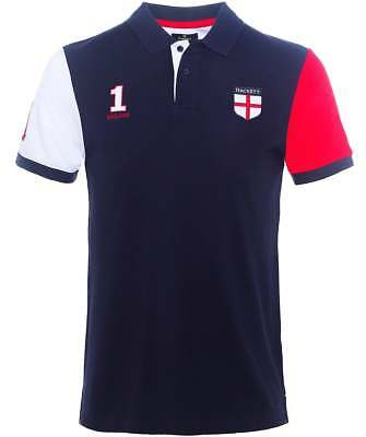 HACKETT London Classic Fit (2018 Fifa World Cup) 100% Cotton Polo Shirt ENGLAND