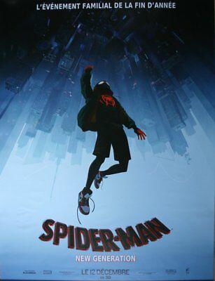 SPIDER-MAN NEW GENERATION Affiche Cinéma ROULEE 160x120 Movie Poster PREVENTIVE
