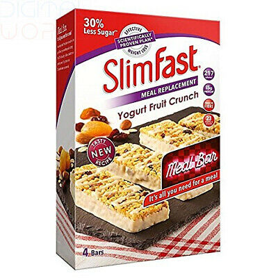 SlimFast Yoghurt Fruit Crunch Meal Replacement Bars, 16 x 56g