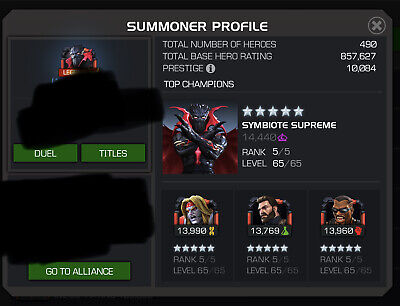 MARVEL CONTEST OF Champions Account | LOL Quest - 1 path | CHECK