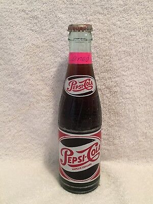 RARE FULL 20cl PEPSI-COLA ACL SODA BOTTLE FROM CANADA VERSION 2