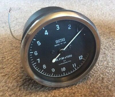 Smiths Replica Chronometric  Mechanical Revcounter 4:1 Ratio 0-12000 Anti Clock