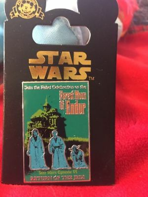 Forest Moon Endor Return of the Jedi Haunted Mansion Star Wars Poster Disney Pin