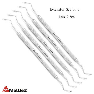 Clinical Dental Restoration Spoon Excavators Carious Removal Dentist Instruments