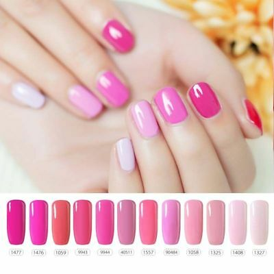 BELLE FILLE 10ml Pink Color Soak off Nail UV/LED Lamp Candy Gel Polish Lacquer