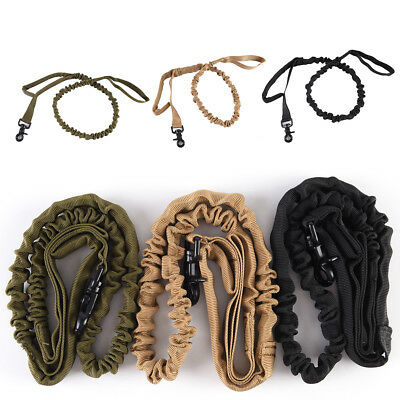 Tactical police Dog Training Nylons Leash Elastic Bungee Lead USA CanineMilitary